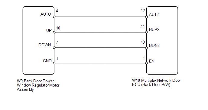 Toyota 4runner Back Door Power Window Switch On Stuck B2312 Power Window Control System Service Manual