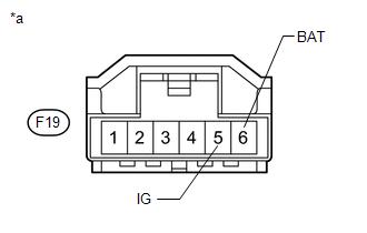 Toyota 4Runner: Steering Angle Sensor Power Source Voltage
